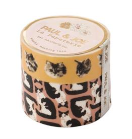 Paul & Joe Paul & Joe Masking tape - P - Bruin tape zwart witte kat