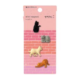 Midori Midori Mini magneet - cat