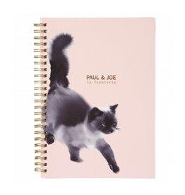 Paul & Joe PAUL & JOE - Spiraal Notebook A5 - Lichtroze zwarte kat