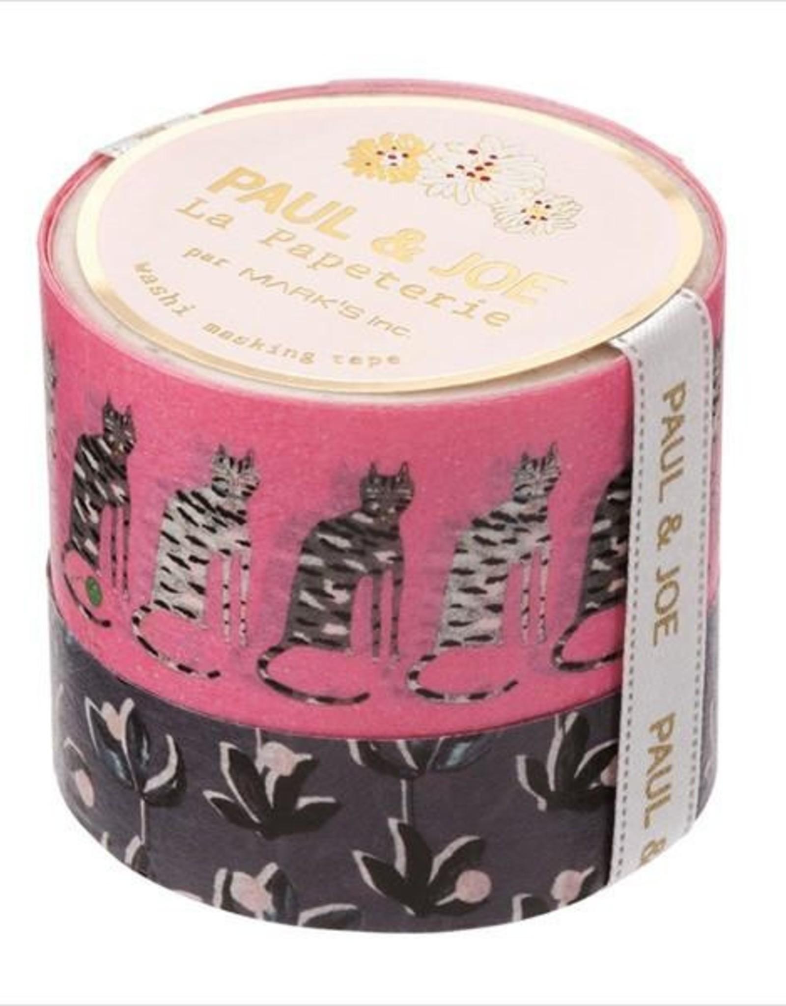 Paul & Joe Paul & Joe Masking tape - K donkerroze zwarte bloem