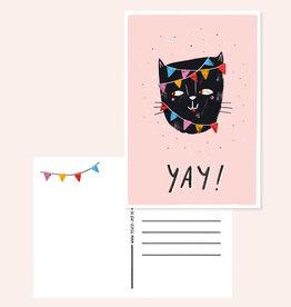 Teken-ing Teken-ing - Yay cat kaart