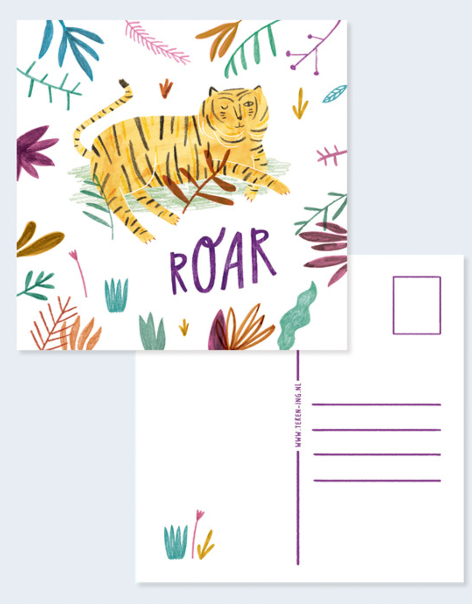 Teken-ing Teken-ing - Tijger Roar kaart