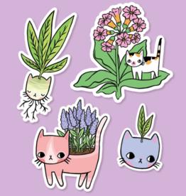 Pony People Pony people - plant kitty sticker set
