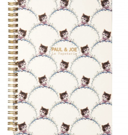 Paul & Joe PAUL & JOE - Spiraal Notebook A5 - Bladeren getekend kattenhoofd