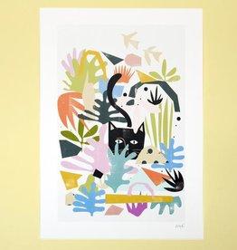 Niaski Niaski print Catisse A3 garden