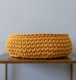 Sunny Baskets Sunny Baskets handgehaakte kattenmand - oker geel S