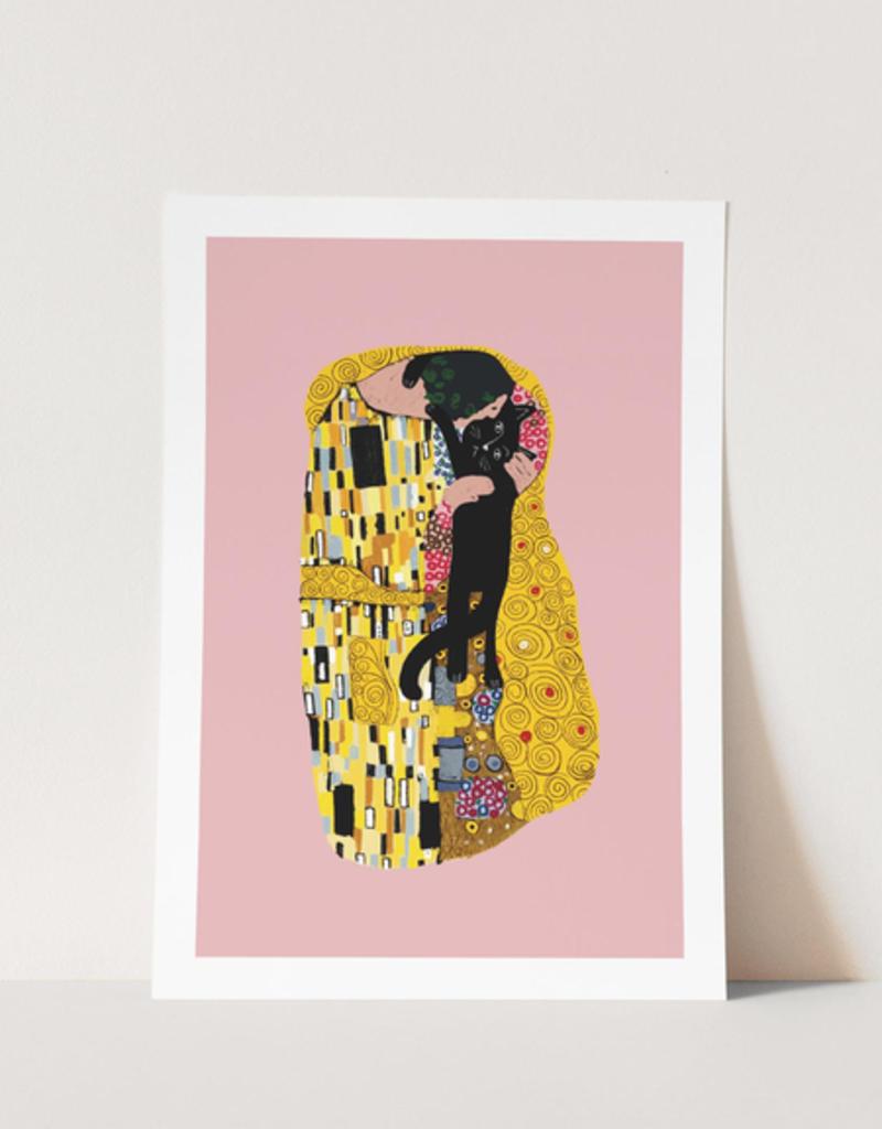 Niaski Niaski print A4 - the cat kiss