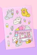 We Are Extinct We are extinct Ice cream cats - sticker sheet