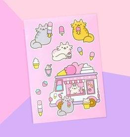 We Are Extinct We are extinct Ice cream cats - sticker sheet