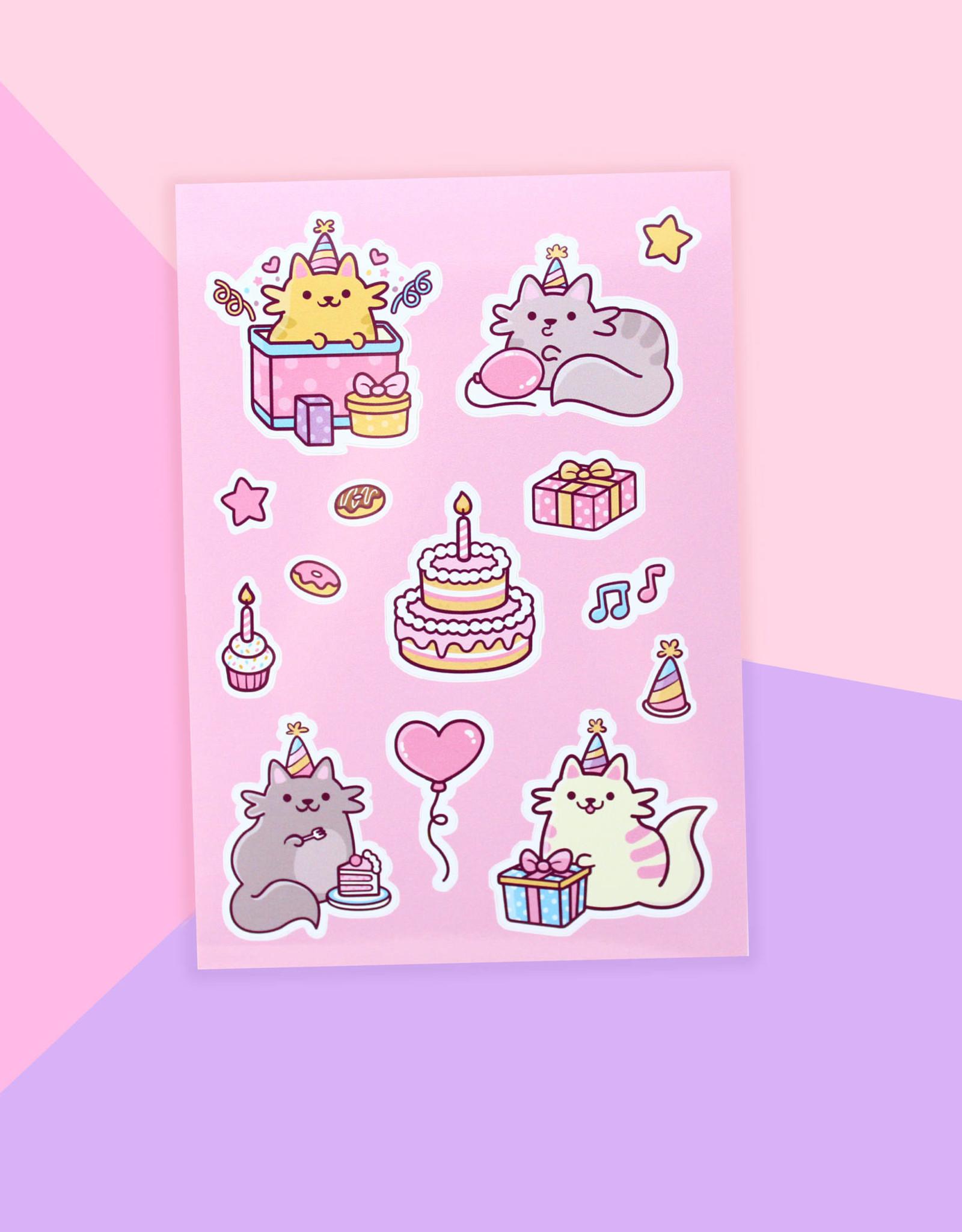 We Are Extinct We are extinct Birthday cats - Sticker sheet