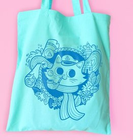 We Are Extinct We are extinct Sailor cat - tote bag mint