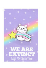 We Are Extinct We are extinct  Falling star cat - enamel pin