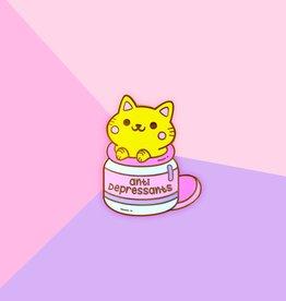 We Are Extinct We are extinct Anti depressants cat - Enamel pin