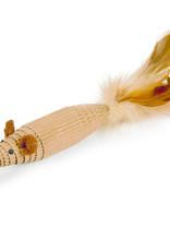 Beeztees Beeztees kattenspeeltje karton en veer muis - ZOOF
