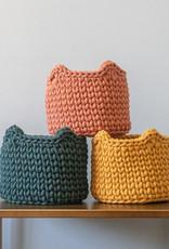 Sunny Baskets Sunny Baskets (planten)mandje kattenoren- Groen