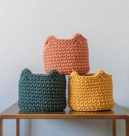 Sunny Baskets Sunny Baskets Mand Kattenoren - Groen