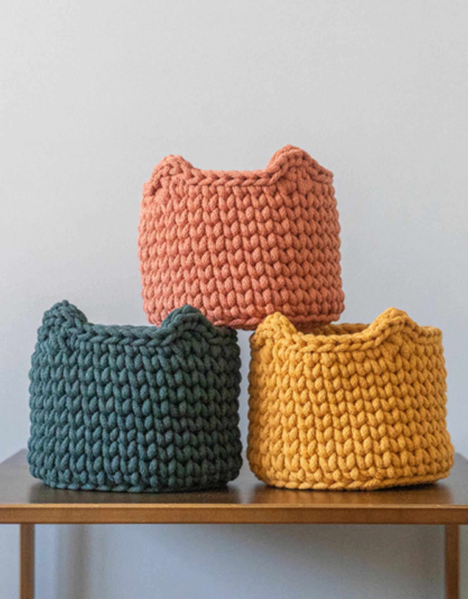 Sunny Baskets Sunny Baskets (planten)mandje kattenoren - Okergeel