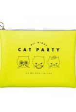 Mark's Tokyo Edge Mark's - All Night etui groot, Cat - geel flat pouch