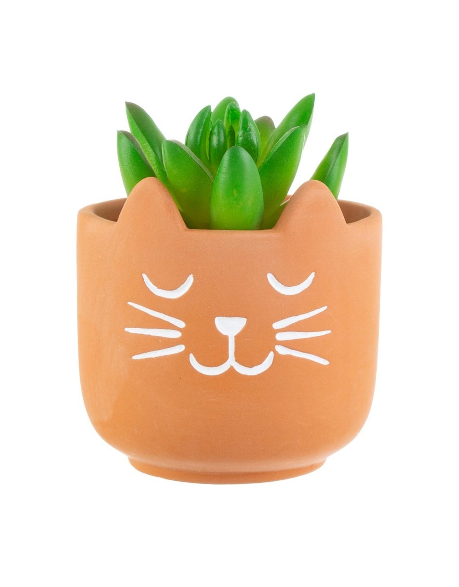 Sass & Belle Sass & Belle - Cat whiskers terracotta mini planter