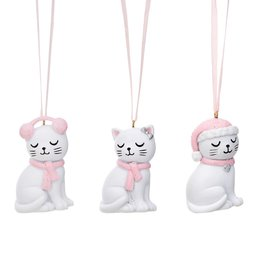 Sass & Belle Sass & Belle Cutie cat hanging decorations set of 3