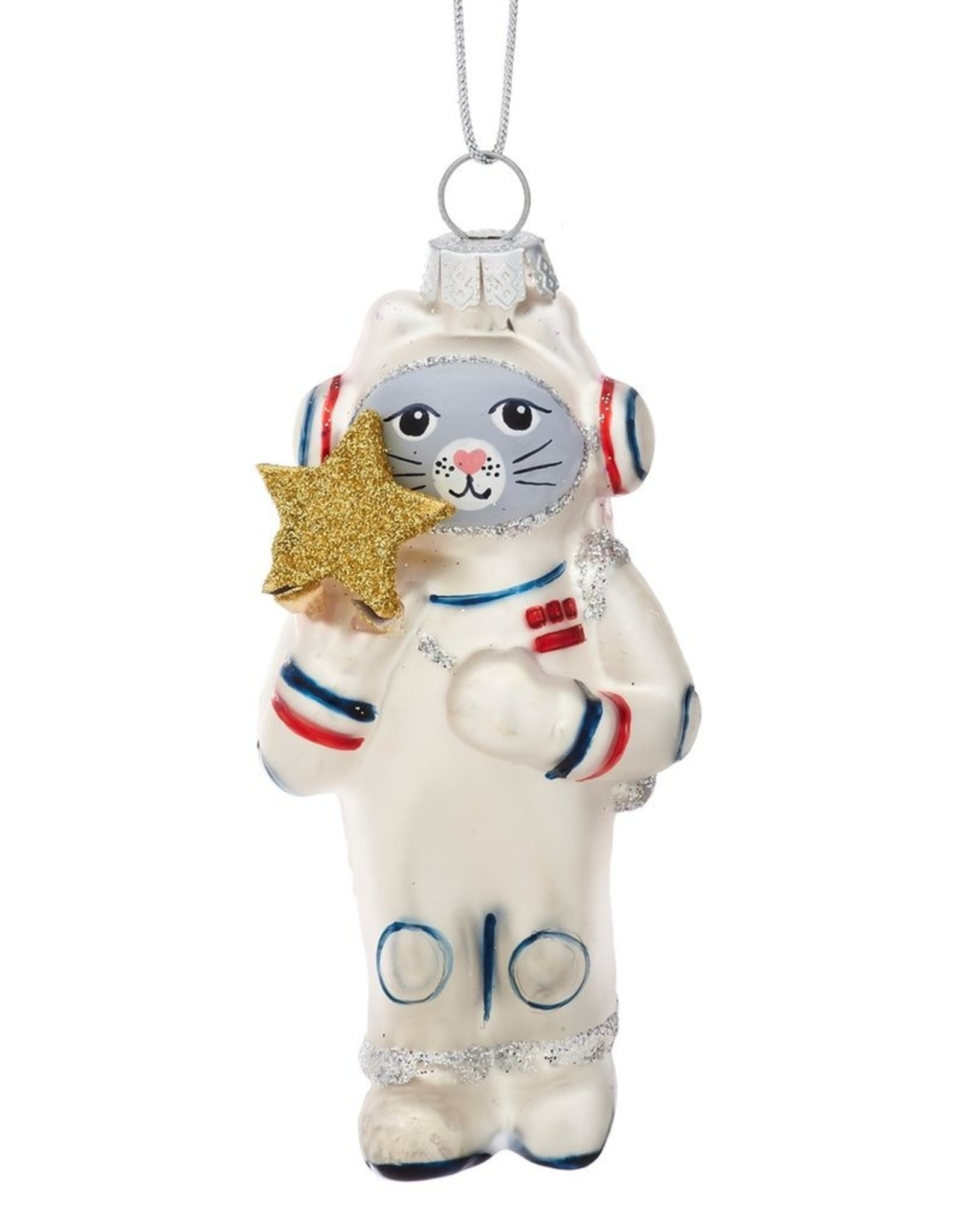 Sass & Belle Sass & Belle - Cat Astronaut Shaped Bauble