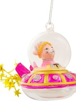 Sass & Belle Sass & Belle Spaceship Cat shaped bauble