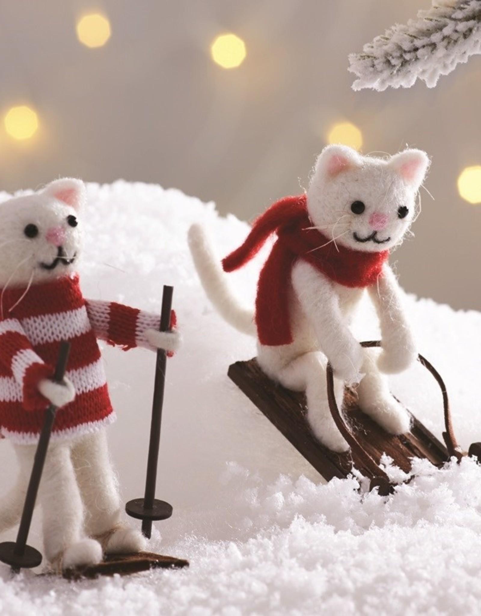 Sass & Belle Sass & Belle sledging cat decoration
