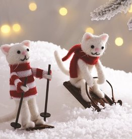 Sass & Belle Sass & Belle sledging cat decoration