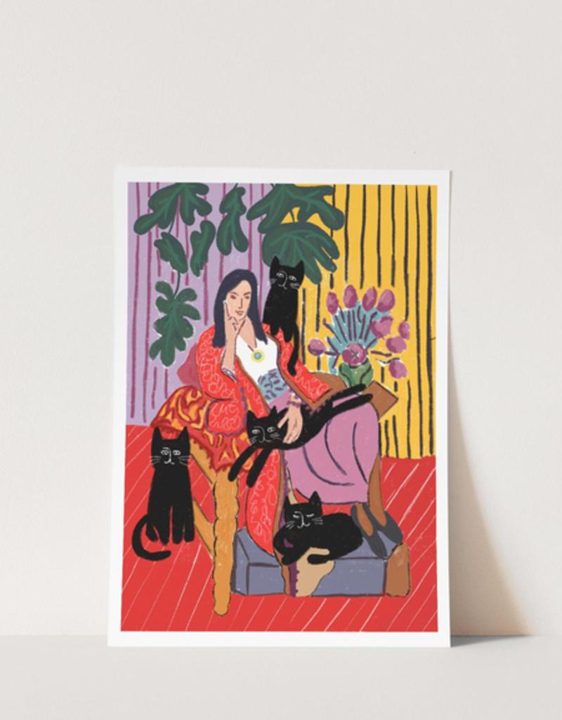 Niaski Niaski Print The Cat Lady