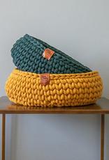 Sunny Baskets Sunny Baskets Handgehaakte kattenmand - oker geel L