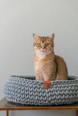 Sunny Baskets Sunny Baskets Handgehaakte Kattenmand - Grijsgroen L