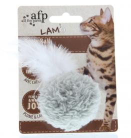 AFP AFP Lambswool - Snowball met catnip speeltje