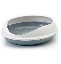 Beeztees Beeztees - Kattenbak Fiagro Ovaal grijs/wit