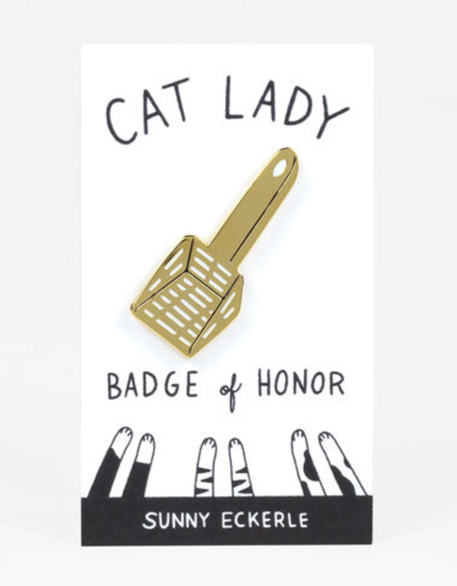 Sunny Eckerle Sunny Eckerle Cat lady - Kattenbak schepje pin