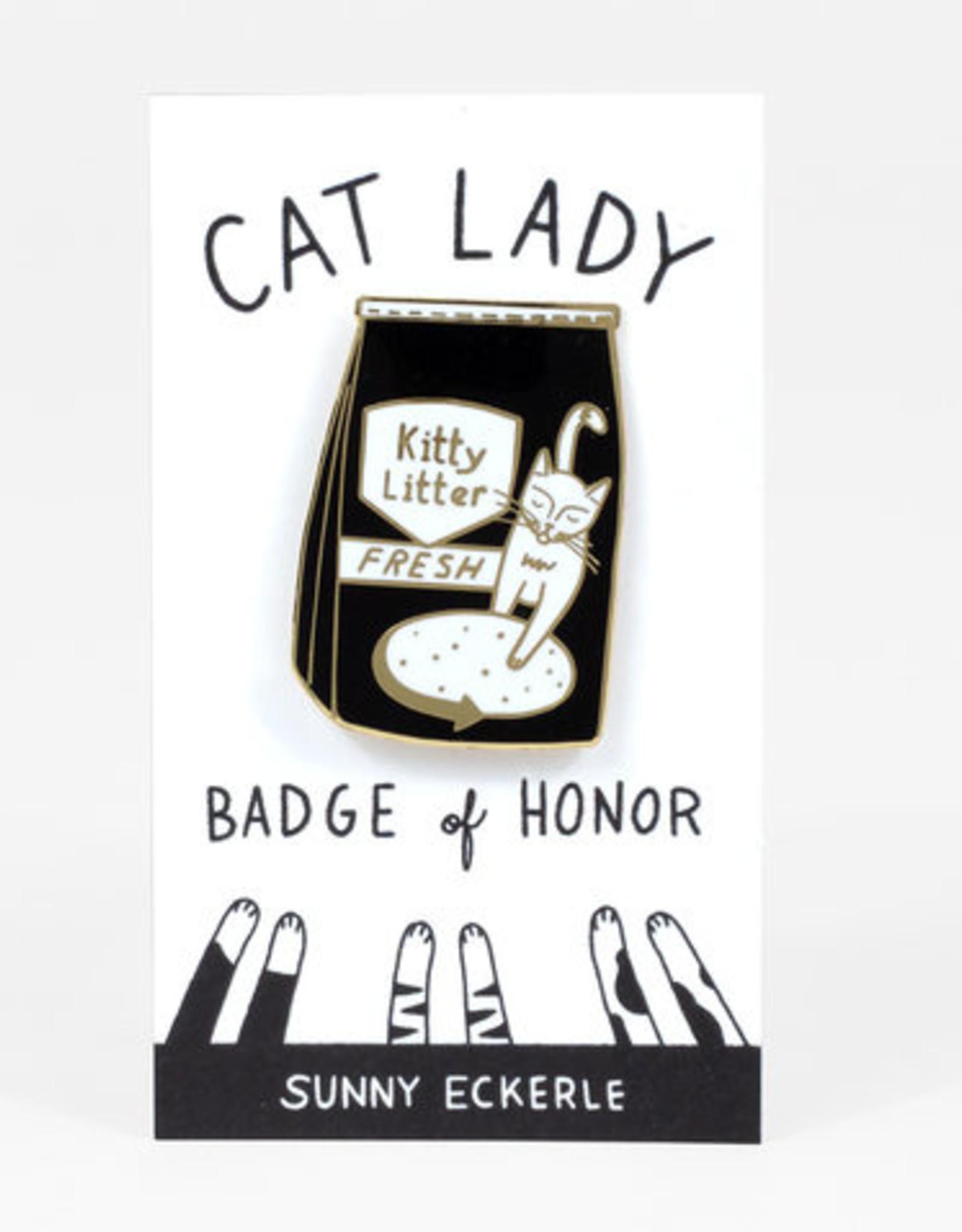 Sunny Eckerle Sunny Eckerle Cat lady - Kattenbak grind pin