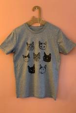 Kopjes Kopjes portretjes - T -shirt Grijs