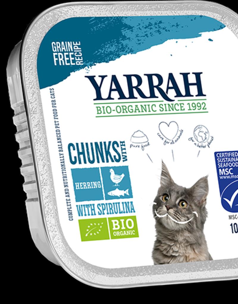 Yarrah - Kattenvoer chunks met vis 100g