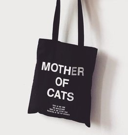 Niaski Niaski  Mother of Cats Tote Bag - zwart