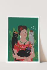 Niaski Niaski - Frida and her catlos print