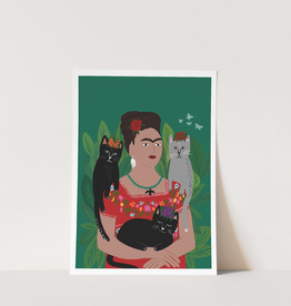 Niaski Niaski - Frida and her catlos print