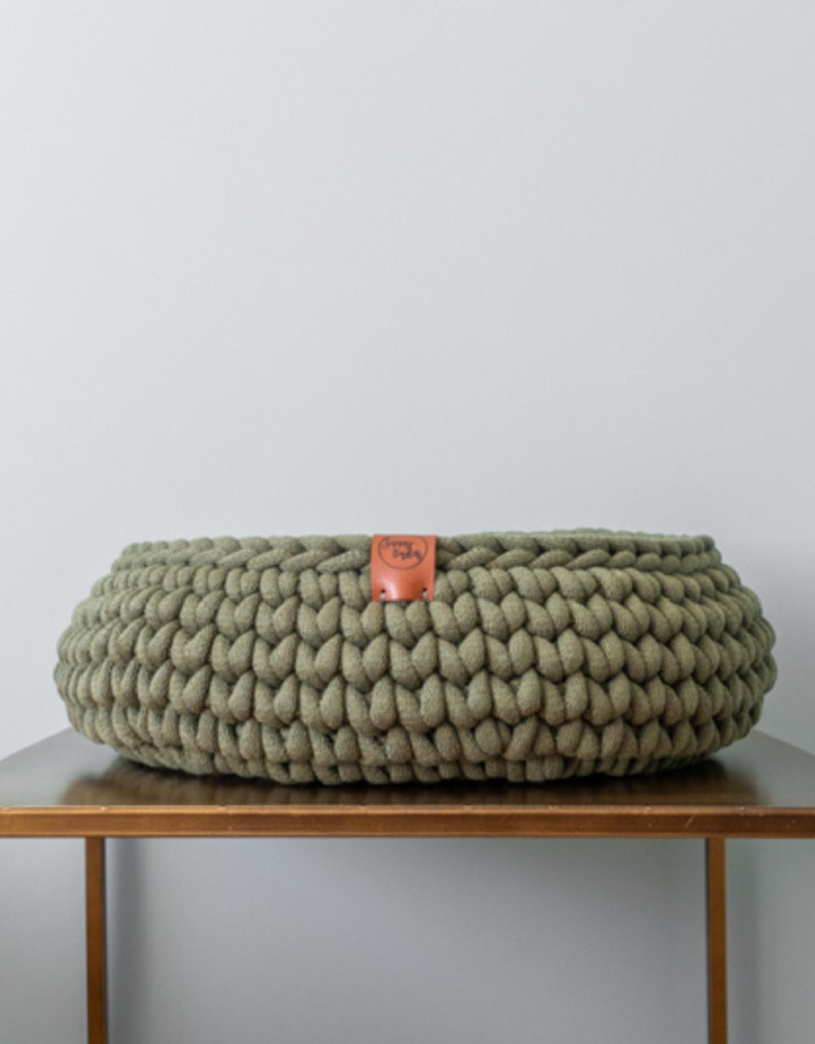 Sunny Baskets Sunny Baskets - Handgehaakte kattenmand - avocado groen M