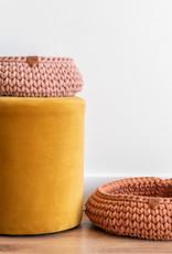 Sunny Baskets Sunny Baskets - Handgehaakte kattenmand terracotta M