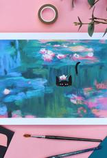 Niaski Niaski - Monet Waterlelie kat print
