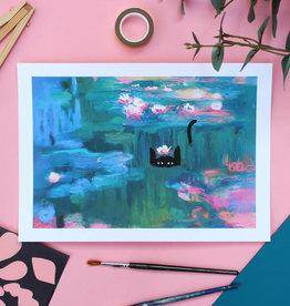 Niaski Niaski - Waterlelie kat print