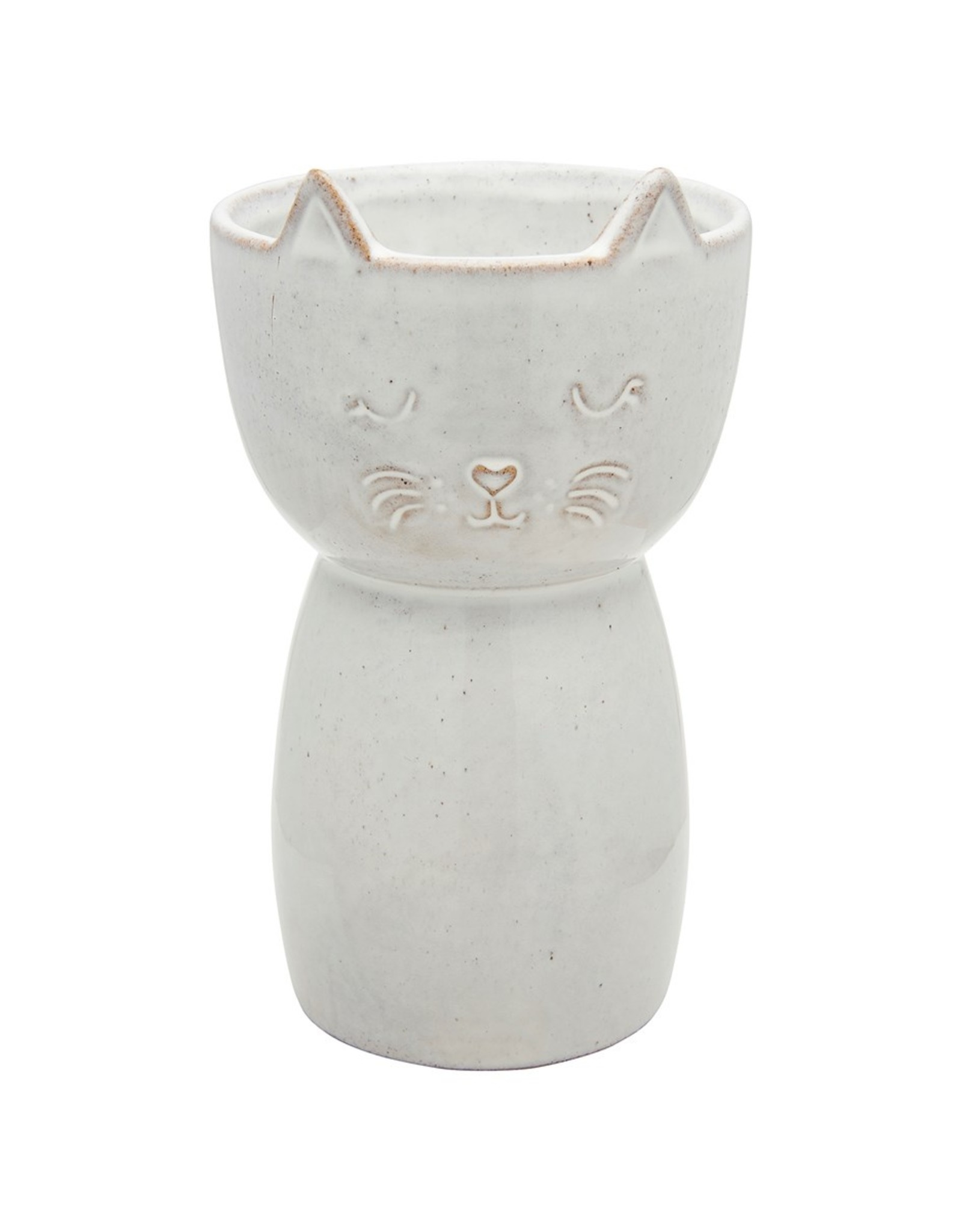 Sass & Belle Sass & Belle - Speckled cat vase