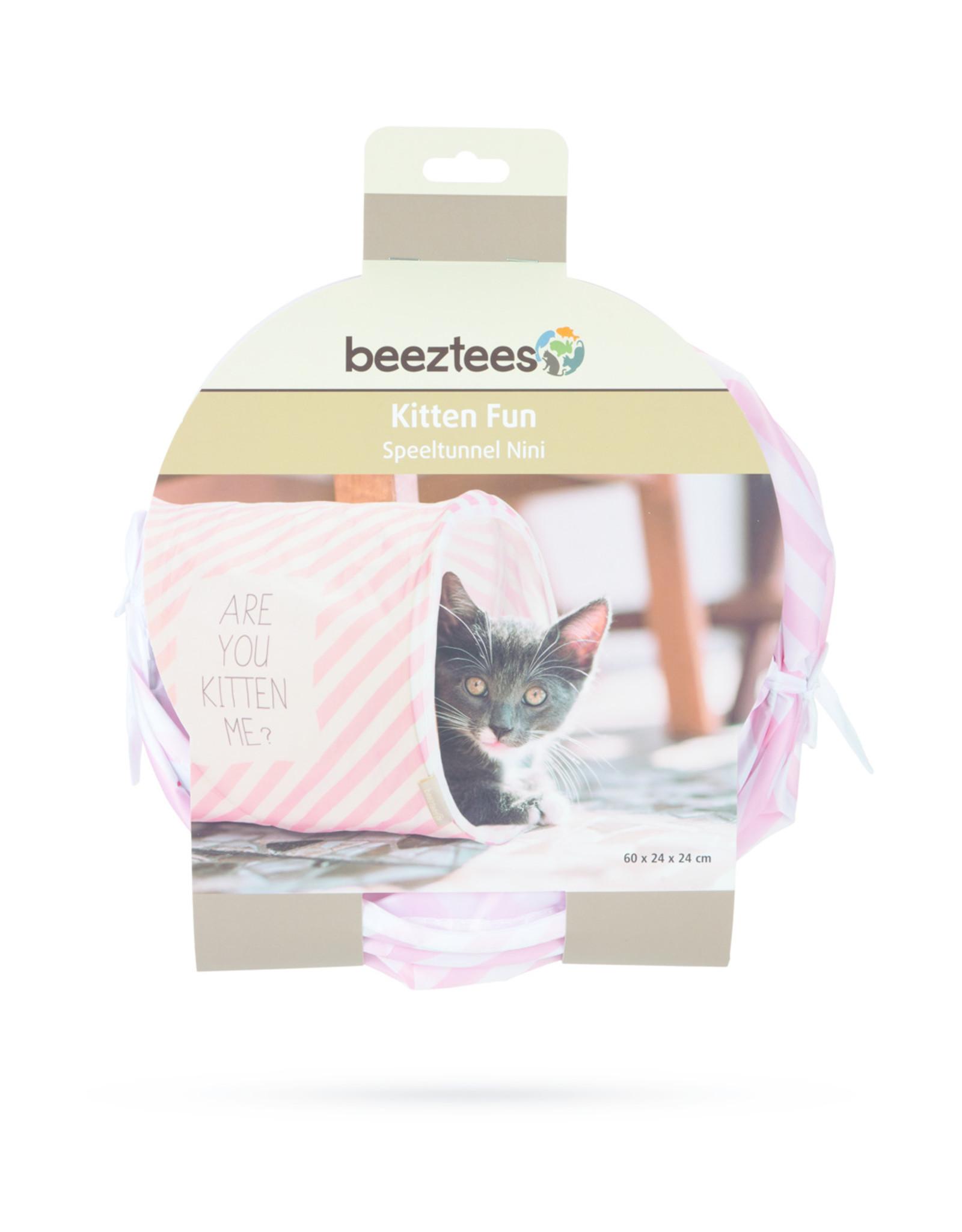 Beeztees Beeztees - Kitten speeltunnel Roze
