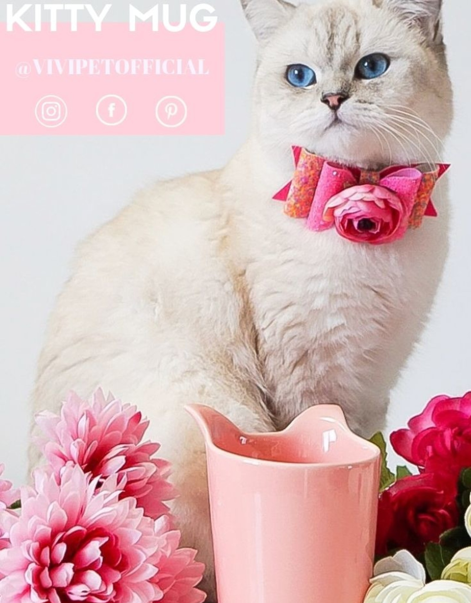 ViviPet ViviPet - Tall Kitty Mug Roze