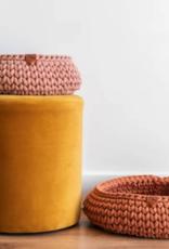 Sunny Baskets Sunny Baskets - Handgehaakte kattenmand - Oudroze L