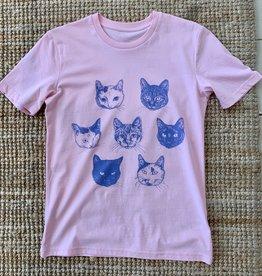 Kopjes Kopjes portretjes - T-shirt Roze