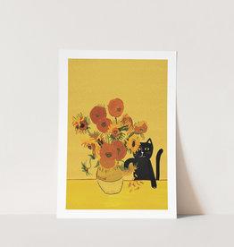 Niaski Niaski - Sunflower Cat print